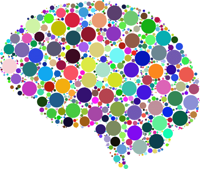 Colorful Brain Graphic Image